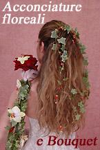 Bouquet da sposa particolari con le relative acconciature floreali. Milano (Italia)/Particular bridal bouquet and floral hairstyles. Milan (Italy)
