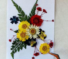L'arte dei fiori pressati