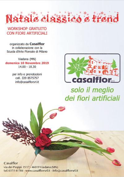 Natale classico e trend 2019 Workshop gratis con fiori artificiali