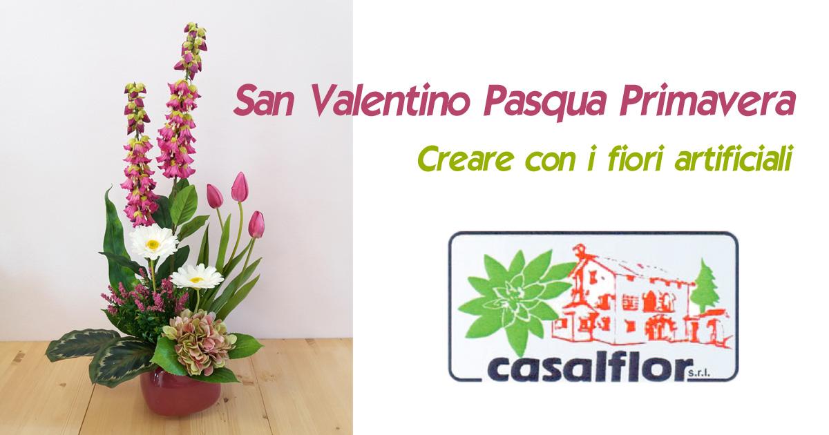 Creare con fiori artificiali per San Valentino Pasqua Primavera